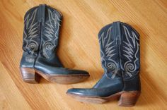 Vintage 1970's Bohemian Frye Cowboy Boots Size by JacquelineLaDawn
