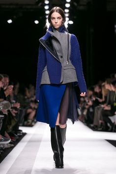 A look from the Sacai Fall 2014 RTW collection.