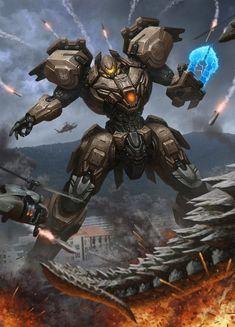 thailand Jaeger by kamiyamark on DeviantArt Robot Concept Art, Armor Concept, Weapon Concept Art, Arte Gundam, Gundam Art, Sci Fi Armor, Sci Fi Weapons, Pacific Rim Jaeger, Gato Anime