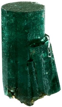 """The #PatriciaEmerald"""" is one of the largest gem-quality emeralds in the world, still preserved in its original natural crystalline-state. Emeralds usually crystallize in the hexagonal crystal system, forming flattened or elongated hexagonal (six-sided) prisms with pinacoidal terminations. But, the """"Patricia Emerald"""" is unique in that it is di-hexagonal or twelve-sided."""