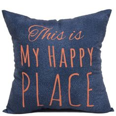 Mainstays Happy Place Pillow, Green/Blue