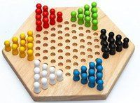 Hoang De Chinese Checkers Game : Chinese checkers (US spelling; UK Chinese chequers[1]) is a strategy board game which can be played by two, three, four, or six people, playing individually or with pa