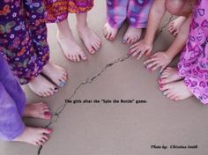 Slumber Party Crafts - nail painting version of spin the bottle