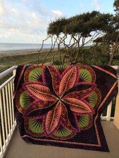 Fire Island Hosta by Judy Niemeyer ~ kit with Kaffe Fassett fabrics from Tennessee quilts