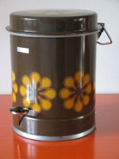 Brabantia vuilnisbak met bloemdecor