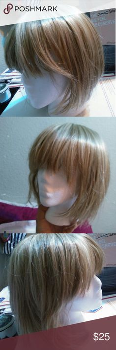 """blonde wig Little shedding , real hair feel, non flammable fibers. Made in Thailand  Please go to full page for more awesome merch . Like my """"meet the posher"""" post so that it stays in your bookmarked list and can go back to it. Announcing all kinds of fun stuff and deals I have going on. Box of goodies is one at the moment Rome from paris Accessories Hair Accessories"""