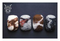 Felted Cornwall Beach Pebbles (Felted Soap)  Follow us on Facebook! https://www.facebook.com/kensingtonFelt/