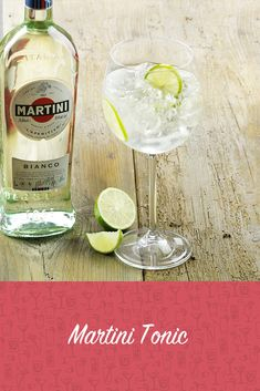 Martini Tonic Recipe - delicious recipes at Aperitif Cocktails, Vermouth Drinks, Cocktail Drinks, Vodka Mixed Drinks, Fruity Alcohol Drinks, Alcoholic Drinks, Martini, Gin Drink Recipes, Tonic Drink