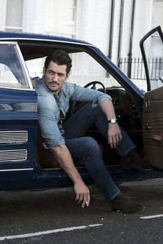 David Gandy, is Britain's best-known model, but he is now branching out into retail. He loved a pair of Chelsea boots by London company David Preston so much he bought the firm. David Gandy Style, David James Gandy, Preston, Men Photoshoot, Dolce E Gabbana, Photography Poses For Men, Supermodels, Beautiful Men, Sexy Men