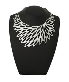 Fashion designer silver geometric necklace  by DouryAccessories, $45.00