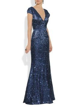 Qpid Showgirl Women's Sequin V Neck Evening Dress 1278bl US 12 Blue   - Click image twice for more info - See a larger selection of evening dresses at  http://azdresses.com/category/dress-categories/dresses-by-occassion/evening-dresses-gowns/ - woman, womans fashion , womans dresses, gown, long dresses, gift ideas , long gown« AZdresses.com