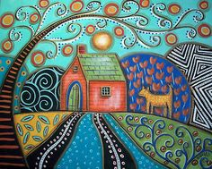Purchase posters from Karla Gerard. All Karla Gerard posters are ready to ship within 3 - 4 business days and include a money-back guarantee. Karla Gerard, Original Paintings, Original Art, Decorating With Pictures, Naive Art, Art Graphique, Pics Art, Whimsical Art, Dog Art