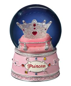 Princess Crown Water Globe