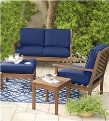 Plow Hearth Lancaster Outdoor Furniture Collection Eucalyptus Wood Round  Dining Table And 4 Chairs Set    Please Continue Read. Part 54