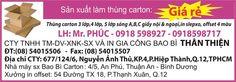 CTY TNHH TM-DV-XNK-SX VÀ IN GIA CÔNG BAO BÌ THÂN THIỆN ĐT: (08) 54015506 - Fax: (08) 54015507 Địa chỉ CTY: 677/124/6, Nguyễn Ảnh Thủ, KP.4, P.Hiệp Thành, Q.12, TP.HCM  Nhà máy sản xuất Bao Bì Carton: 4/5, An Phú, Thuận An, Bình Dương Xưởng in offset: 54 Đường TX18, P.Thạnh Xuân, Q.12