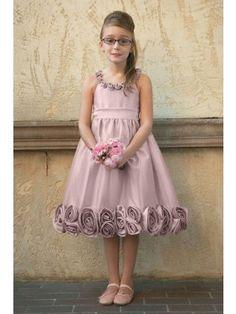 502fd1ed16b Fabulous A-line Scoop Tea-length Flowers Embellishing Flower Girl Dress - Flower  Girl Dresses - Wedding Party Dresses