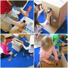 """Fun with Fixing by Teach Preschool-Gather materials to be """"fixed"""" and tools to """"fix with""""."""