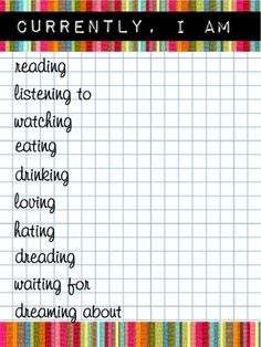 Currently printables for Project Life – lists, lists lists