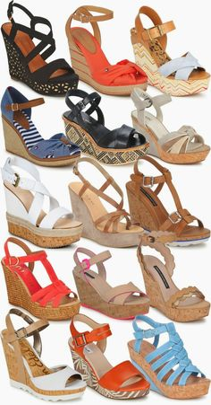 Cute Girl Shoes, Cute Heels, Girls Shoes, Summer Wedges, Summer Shoes, Platform Wedge Sandals, Wedge Shoes, Clarks Sandals, Frauen In High Heels