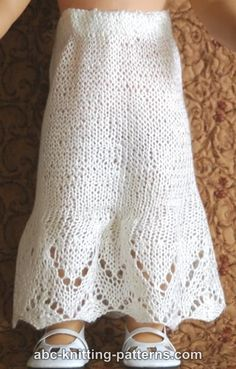 ABC Knitting Patterns - American Girl Doll Petticoat