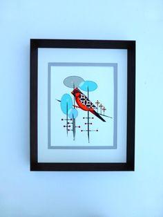 Charlie Harper inspired Mid century Modern bird by COLBYandFRIENDS, $60.00