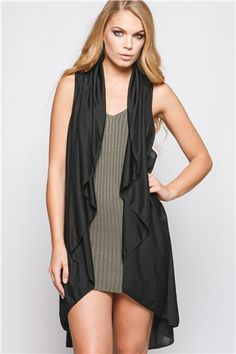 Womens Waisted Longerline Tunic Sleeveless Vest New Look Clearance Authentic Best Supplier Buy Cheap Looking For New For Sale 2018 i4RzNKq