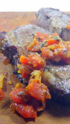 Marinated Steak with Pizzaiola Sauce (Bistecca marinata alla pizzaiola)