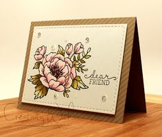 handmade card from Creativity Within ... large flower with beautiful soft coloring ... Stampin' Up!