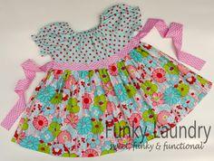 Springtime Peasant Twirl Dress