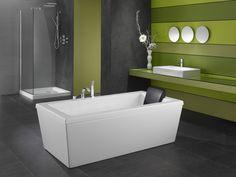 Neptune Ametys 3260 Freestanding Mass-air Tub x x Modern Bathtub, Modern Bathroom, Master Bathroom, Bathroom Ideas, Bathroom Inspiration, Soaker Tub Free Standing, Square Bath, Freestanding Tub Filler, Products