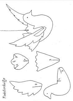 Gratis patroon voor het maken van een pinksterduifje Construction Paper Crafts, Peace Dove, Paper Birds, Pentecost, Religion, Arts And Crafts, Letters, Education, Cards