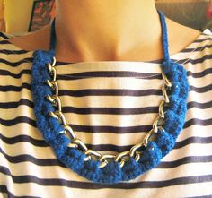 Beauty in simplicity: DIY crochet chain necklace