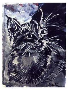 acrylic painting....2 January 2021.....drawn/painted freehand, slightly enhanced with PIXLR Weird Drawings, January, Cats, Painting, Animals, Gatos, Animales, Kitty Cats, Animaux