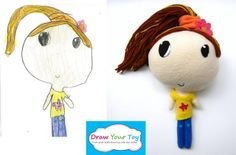 Draw Your Toy- make your own softie from your kid's drawing!