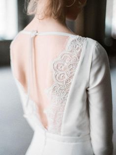 Wedding Dresses Simple Low Back Ballet Wedding Dresses, Black Wedding Dresses, Boho Wedding Dress, Boho Dress, Bridal Dresses, Ball Dresses, Ball Gowns, Dresses With Sleeves, Vestidos Vintage