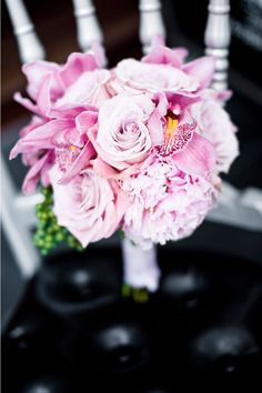 black and white and pink perfection. from style me pretty. images by Davina+Daniel.
