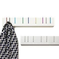 Coat hook, they pull down when u need it. brilliant! Symbol Coat Rack by David Scott