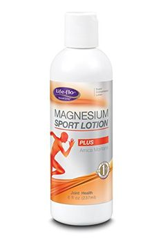 Magnesium Sport Lotion wArnica Peppermint Life Flo Health Products 8 oz Cream *** Click on the image for additional details.