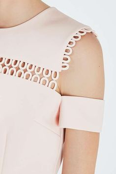 Peek-a-boo pink, perfect for summer parties. #Topshop