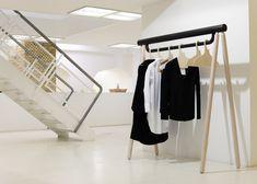 Torsten Neeland's creates wooden framework for new Yohji Yamamoto collection