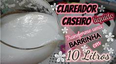 SABÃO CASEIRO CLAREADOR DE ROUPAS LÍQUIDO e sem soda