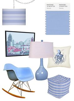 Home Decor: Pantone Color of the Year! Rose Quartz and Serenity. Pantone surprised us all when they selected not one but two colors for this years color. Pantone 2016, Pantone Color, Nursery Inspiration, Color Inspiration, Periwinkle Room, Rose Quartz Serenity, Sofa Colors, Color Of The Year, Interior Styling