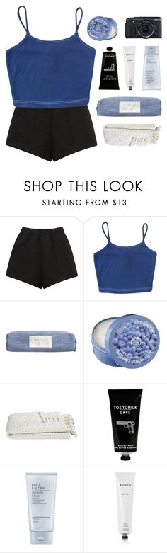 """""""who could find a better way to get lost with you?"""" by kristen-gregory-sexy-sports-babe ❤ liked on Polyvore featuring E L L E R Y, The Body Shop, Crate and Barrel, TokyoMilk, Estée Lauder, Rodin and Fujifilm"""