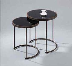 2-tlg. Satztisch Beistelltisch Tisch Beistelltische Couchtisch braun/schwarz in Möbel & Wohnen, Möbel, Tische   eBay