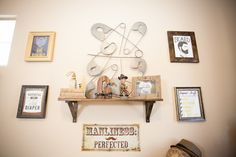 Gentleman's Quarters Nursery - love the fun, masculine wall art!
