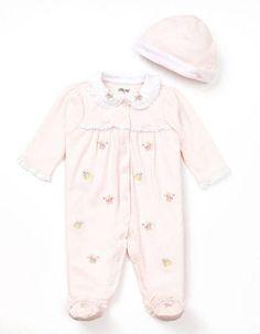 ShopStyle: LITTLE ME Newborn Girls 0-9 Months Blossom Footie & Hat