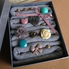 Make a ring storage box - Follow @Guidecentral for #DIY and #craft projects