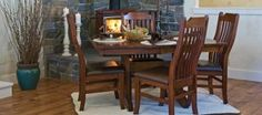 Custom Dining Mini Mission by Oakwood at Crowley Furniture in Kansas City