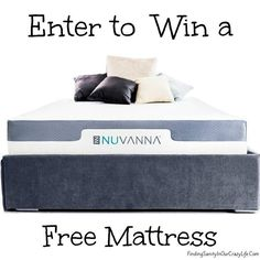 Enter to win a Nuvanna Mattress and discover a good's night sleep and awaken refreshed & ready for anything. #AD #NuvannaMattress #Giveaway Ends 5/31