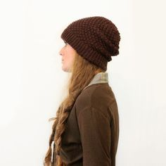 9619caaa55ec4 KNITTING PATTERN — Worsted bramble stitch hat   Bailey toque — PDF